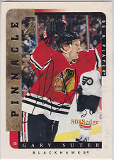 1996-97 PINNACLE BE A PLAYER AUTO: GARY SUTER #180 ON CARD AUTOGRAPH BLACKHAWKS