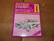 Haynes service and repair manual for Datsun Cherry, 1979 to 1982, book 679