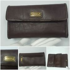 Capezio Wallet Brown Credit Cards Cheque Organizer Faux Leather