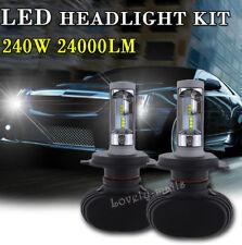 H4 6000K White CSP High Power LED Headlight Bulb Lamp Kit 240W 24000LM HiLo Beam