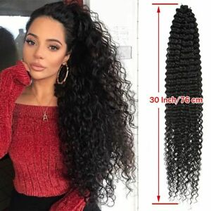 Curly Wavy Synthetic Hair Goddess  Water Wave Crochet Hair 30 Inch Soft Long