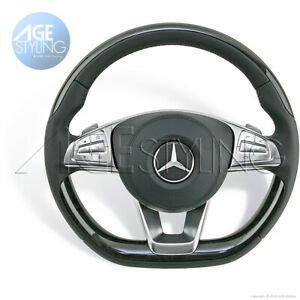 OEM Mercedes-Benz S550e S600 S63 AMG S65 AMG ASH Wood BlackLeatherSteering Wheel