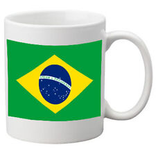 Brazil Flag Ceramic Mug. 11oz Mug, Great Novelty Mug.
