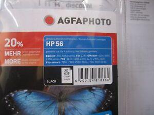 Agfa Photo Aucun Original 2x HP NR.56 6656 AE Noir Paquet Double 2x24ml Neuf