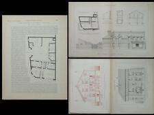 HAM SOMME, 35 RUE GENERAL FOY -1927- PLANCHES ARCHITECTURE-SAINT MAUR DES FOSSES