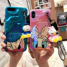 Cute Daisy Winnie Wristband Doll Pendant Soft Case Cover for iPhone X 8 7 6 Plus
