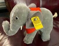Vintage STEIFF Elephant  Button Tag In Ear 1970s Just Under 4 Inches Tall
