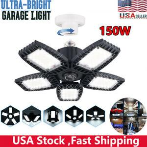150W LED Garage Light Bright Shop Ceiling Light Deformable 15000LM Fixtures Bulb