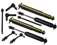 RWD Dodge Durango Dakota Front & Rear Shock Absorbers Tie Rod End Sway Bar Link
