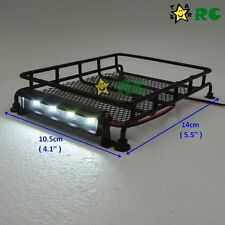 1/10 RC Metal luggage roof rack w/ led light bar For crawlers Tamiya Axial RC4WD