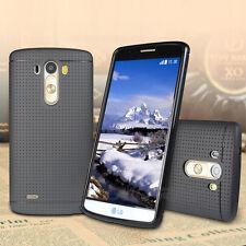 NEW LG G3 Case, [+3pcs Screen Films] Ultra Matte Dot Back Soft Protective Cover
