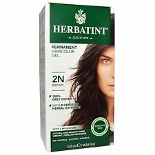 HERBATINT PERMANENT HERBAL HAIRCOLOR GEL 2N BROWN