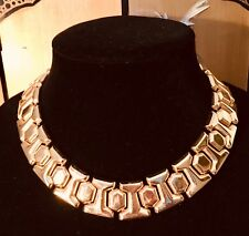 Gold Plated Necklace Choker Made In USA Stamped AFJ  (American Fashion Jewelry)