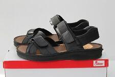 Rieker Clara 63551-00 Sandalen Leder Sneaker Slipper schwarz  Gr. 37 - 43 NEU