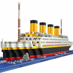 Big Titanic Blocks Building Toys Fit with DIY Gift for Boy Men