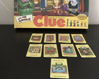 simpsons Clue Board game Hasbro 2002 SPARES Suspect Locations Weapons Cards Set