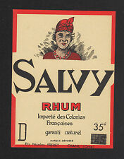 ETIQUETTE de RHUM / RHUM SALVY