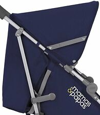 GENUINE Mamas & Papas TREK2 TREK NAVY BLUE BUGGY PUSHCHAIR REPLACEMENT HOOD NEW