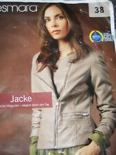 ♥♥♥süße Modischer  Leder  Jacke von Esmara  Collektion Gr.38 * Neu*Grau *