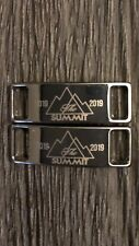 2019 Cheer Summit Shoelace Charms Tags Deubre Silver No Bow Team Gift Pair New
