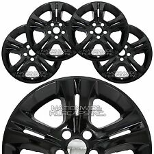 "4 fit Dodge Charger Se 2015-2018 Black 17"" Wheel Skins Hub Caps Full Rim Covers"