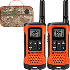 Motorola T265 Talkabout 2-Way Radio, 2-Pack, 25Mi., Orange, with Case