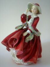 """Vintage Royal Doulton England Nh1834 """"Top Of The Hill"""" Pretty Lady Figurine"""