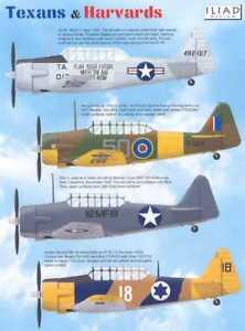 North American T-6 Texans and Harvards (1/48 decals, Iliad 48010)