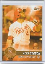 ALEX GORDON 2017 Topps Bunt Physical ORANGE PARALLEL #27/50 Royals