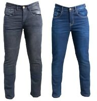 TX Mens Motorcycle Motorbike SLIM JEANS STRETCH DENIM Trousers Protective Lining