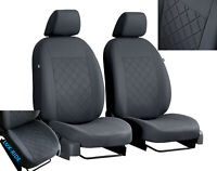 VOLKSWAGEN TRANSPORTER T5 1+1 2003-2015 TAILORED FABRIC FRONT SEAT COVERS