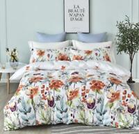 3pcs Twin New Soft Floral Quilt Duvet Cover Set Quilt 2 Pillow Case Bedding Sets