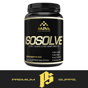 MPA SUPPS ISOSOLVE High Quality Cold Filtered Whey Isolate Protein ZERO Lactose