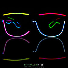 GloFX Luminescence Six Multicolor Sunglasses - EL Wire Wrapped LED Glasses Rave