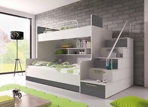 BRAND NEW Bunk Bed PARADISE 2 Cabin Kids Sleeper 6 Colours of High Gloss Inserts