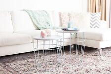 Tisch Set Hochwertig Tisch großer Tisch kleiner Tisch blau weiß Tischsets