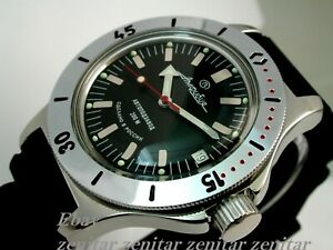 RUSSIAN  VOSTOK AUTO AMPHIBIAN WATCH  FOR DIVING #120662 NEW
