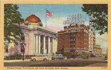 Postcard Washoe County Court House + Hotel Riverside Reno Nevada NV