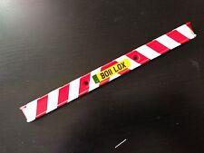 TAMIYA 1/14 REEFER TRAILER 56319 stickers WHITE REFLECTIVE STRIPES rear bumper