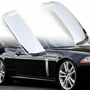 Chrome Side Fender Shark Vent Covers Trim For Jaguar XK XKR X150