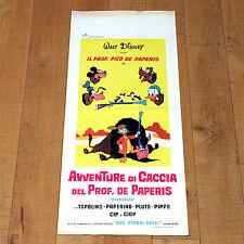 AVVENTURE DI CACCIA DEL PROF DE PAPERIS locandina poster E3 Walt Disney Paperino