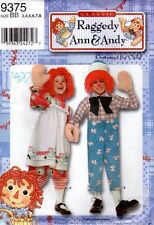 """2000 Simplicity Costumes for Child #9375 """"Classic Raggedy Ann & Andy"""" Size 3 - 8"""