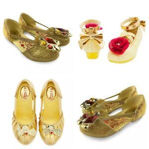 Disney Store Belle Shoes Costume Dress Up Beauty & Beast Gem Sparkle Ballet NEW