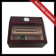 Rosanna Glass Top Cigar Humidor Set, 50+ Cedar Cigar Box, Humidifier Hygrometer