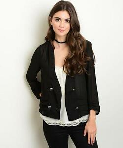 Sheer four-button lapelless double-breasted blazer by Mind Code