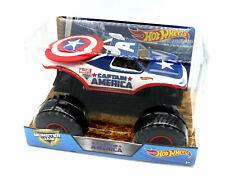 1/24 Hot Wheels Monster Jam Camion Capitan America pressofuso fuori Strada