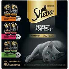 Sheba Perfect Portions Wet Cat Food Cuts In Gravy Roasted Chicken Entrée & Te...