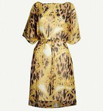 VERSACE silk-chiffon Kaftan dress / coverup. Beachwear. UK 16 / US 12