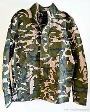 Zara Man Military Camo Canvas Field Jacket [6706/465/505, Large]