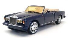 Franklin Mint 1/24 Scale FRR20 - Rolls Royce Corniche IV Blue + Display Case
